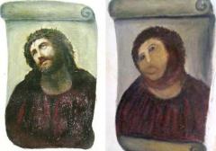 Elías García Martínez, restored by Cecilia Giménez, Ecce Homo (ca. 1930/2012)