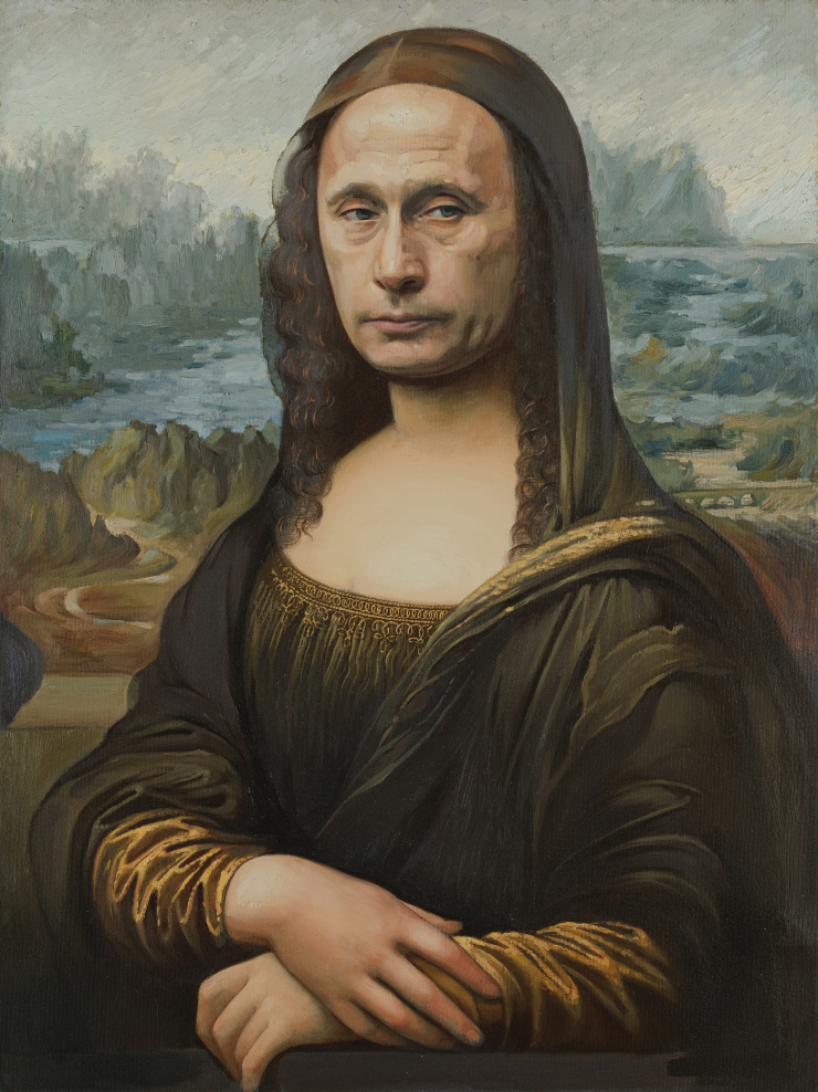 Alexander Kosolapov. Mona Lisa L.H.O.O.Q, 2020. Oil on canvas. 85x63 cm Courtesy Syntax gallery