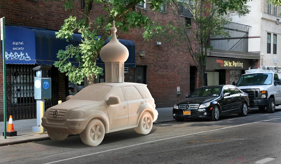 Mercedes on 10th street, 2013
