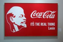 Александр Косолапов соединил профиль Ленина с логотипом кока-колы, тем и знаменит