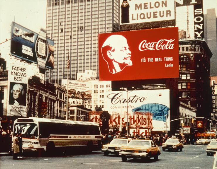 LENIN — COCA-COLA, Times Square Project. 1982