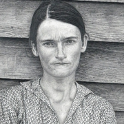 """Marti Cormand: Sherrie Levine's """"After Walker Evans: 4"""", 1981, 2013, graphite on paper, 36.5 x 30 inches"""
