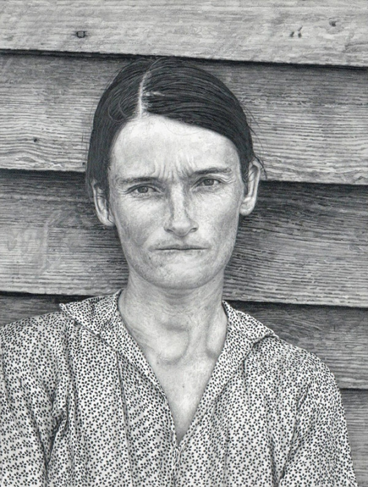 "Marti Cormand: Sherrie Levine's ""After Walker Evans: 4"", 1981, 2013, graphite on paper, 36.5 x 30 inches"