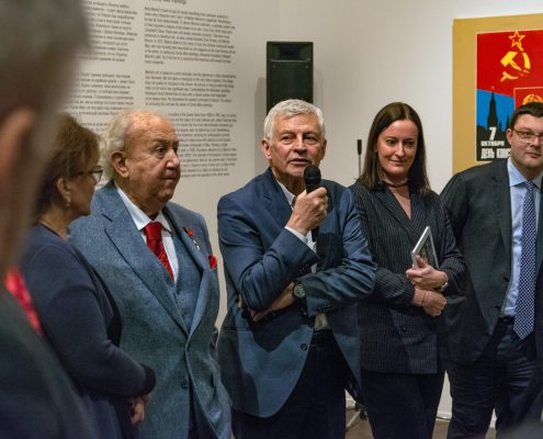 Zurab Tsereteli, Alexander Kosolapov, Vasili Tsereteli; Photo: George Lesskis